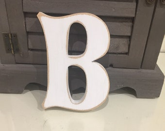 Wooden Letter B – Personalised Name Letter – Nursery Decoration Ideas – Rustic Room Décor – Fairytale Style B – Decorative Wooden Sign