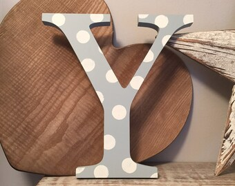 Wooden Letter Y - 30cm x 18mm, Freestanding - Georgian Font - Various sizes, finishes and colours