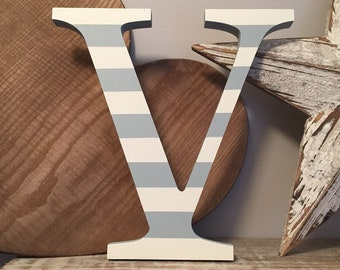 Wooden Letter V - 30cm x 18mm, Freestanding - Georgian Font - Various sizes, finishes and colours