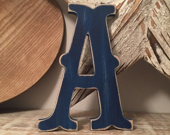Wooden Letter 'A' -  25cm x 18mm - Circus Font - various finishes, standing