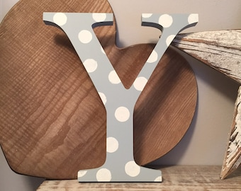 Wooden Letter Y - 20cm x 18mm, Freestanding - Georgian Font - Various sizes, finishes and colours