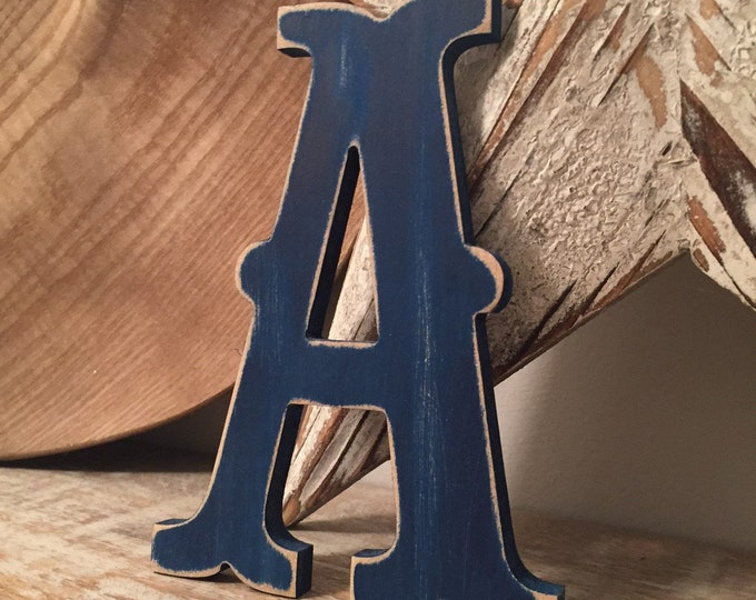 Wooden Letter 'A' -  30cm x 18mm - Circus Font - various finishes, standing