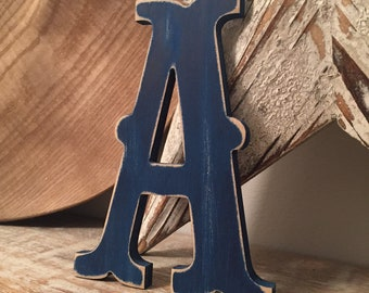 Wooden Letter 'A' -  20cm x 18mm - Circus Font - various finishes, standing