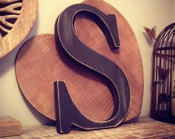 Wooden Letter 'S' - 15cm - Georgian Font - various finishes, standing
