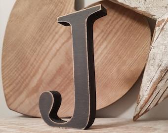 Wooden Letter 'J' - 15cm - Georgian Font - various finishes, standing