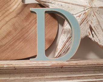 Wooden Letter D - painted and distressed - letter art, interior decor, 15cm, SALE, Clearance