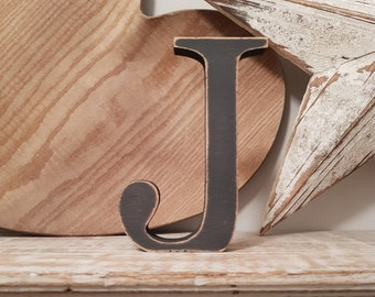 Wooden Letter 'J' - 30cm - Georgian Font - various finishes, standing