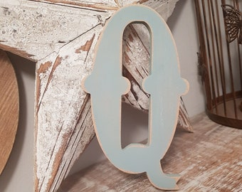 Painted Wooden Letter - Large Letter Q,  Circus Font, 40cm high, 16 inch, any colour, wall letter, wall decor, 18mm