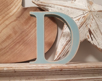 Wooden Letter 'D' -  25cm x 18mm - Georgian Font - various finishes, standing