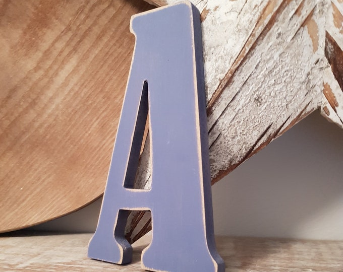 Wooden Letter 'A' -  25cm x 9mm - Bernard Font - various finishes