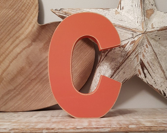 Wooden Letter 'C' -  15cm x 18mm - Ariel Font - various finishes, standing