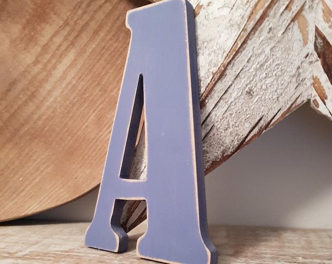 Wooden Letter 'A' -  20cm x 18mm - Bernard Font - various finishes, standing
