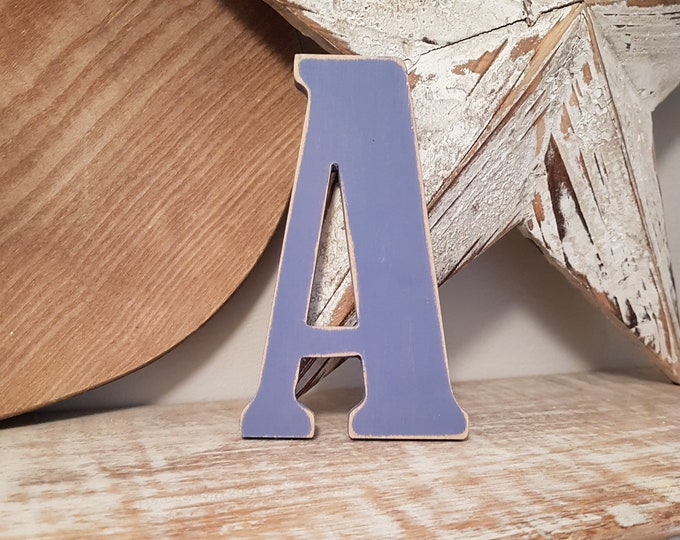Wooden Letter 'A' -  30cm x 9mm - Bernard Font - various finishes