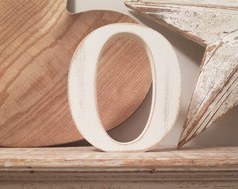 Wooden Letter O - 20cm x 18mm, Freestanding - Georgian Font - Various sizes, finishes and colours