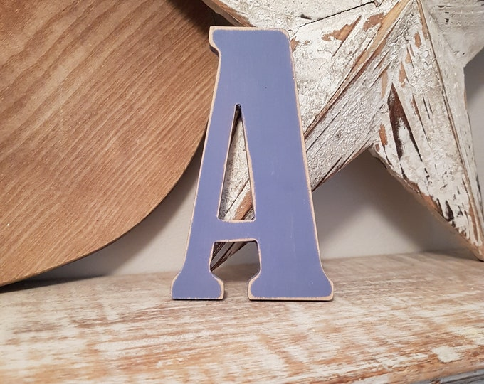 Wooden Letter 'A' -  25cm x 18mm - Bernard Font - various finishes, standing