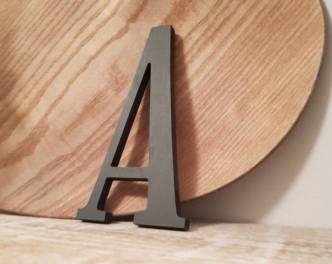 Wooden Letter 'A' -  30cm x 9mm - Elegance Font - various finishes