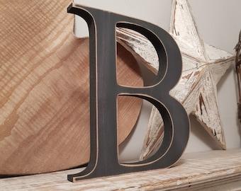 Wooden Letter 'B' -  25cm - Georgian Font - various finishes, standing