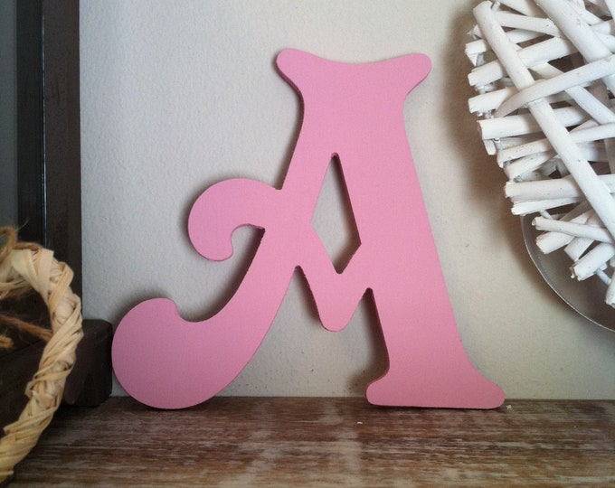 Wooden Letter 'A' -  30cm x 18mm - Victorian Font - various finishes, standing