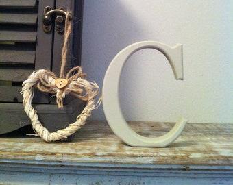 Wooden Letter C  - Freestanding - Georgia Font - 20cm