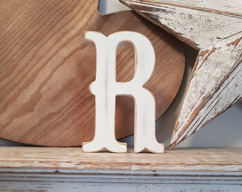 Painted Wooden Letter - Large Letter R,  Circus Font, 40cm high, 16 inch, any colour, wall letter, wall decor, 18mm