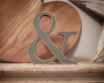 Wooden Letter &, Ampersand - 30cm x 18mm, Freestanding - Georgian Font - Various sizes, finishes and colours