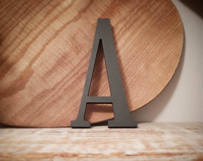 Wooden Letter 'A' -  25cm x 9mm - Elegance Font - various finishes