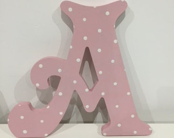 Wooden Letter 'A' -  15cm x 18mm - Victorian Font - various finishes, standing