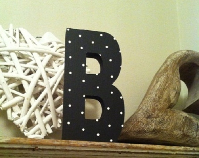 Wooden Letter 'B' -  15cm x 18mm - Ariel Font - various finishes, standing