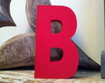 Wooden Letter B – Personalised Name Letter – Nursery Decoration Ideas – Rustic Room Décor – Ariel Style B – Decorative Wooden Sign