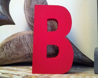 Hand-painted Wooden Letter B - Freestanding - Ariel Font - Various sizes, finishes and colours - 25cm