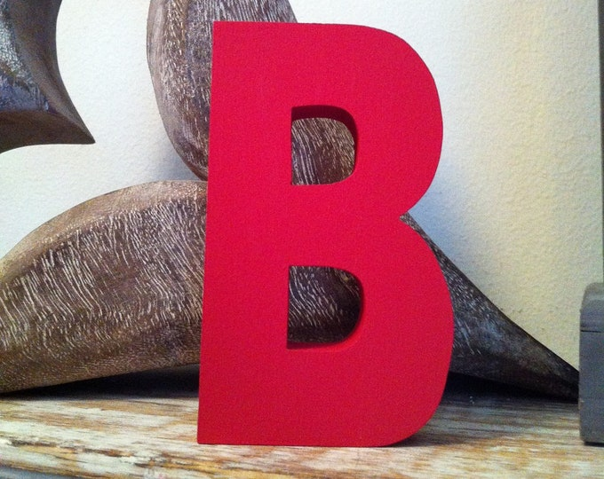 Wooden Letter 'B' -  30cm x 18mm - Arial B Font - various finishes, standing