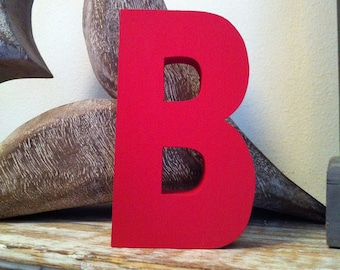 Wooden Letter B - 15cm, Freestanding - Ariel Font - Various sizes, finishes and colours