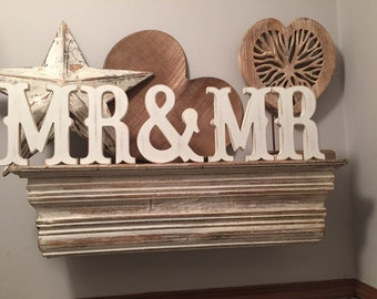 MR & MR -15cm, Handpainted, Free-standing, Wedding Letters - Western Font, new item, Mr, Mrs,