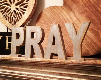 Painted Wooden Letters - PRAY