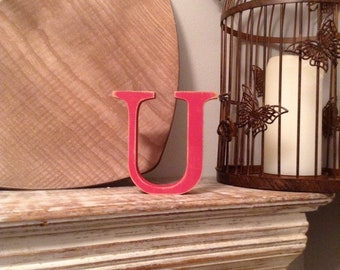 Wooden Letter 'U' - 15cm - Georgian Font - various finishes, standing