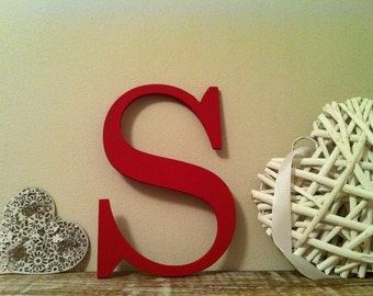 Roman Decorative Wooden Wall Letter 'S' - Any Colour - 8 inch