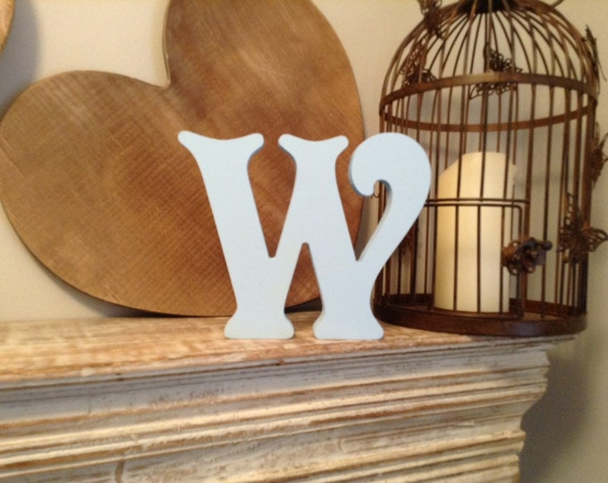 Wooden Letter W – Personalized Name Letter – Nursery Decoration Ideas – Rustic Room Décor – Victorian Style – Decorative Wooden Sign - 25cm