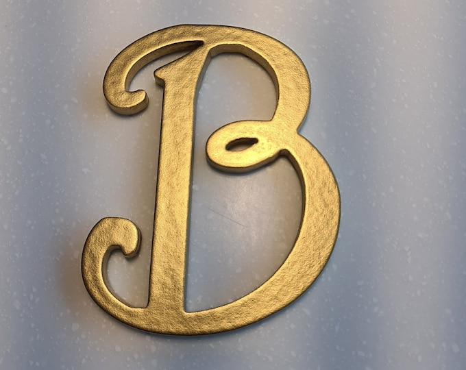 Wooden Letter 'B' -  15cm x 9mm - Princess Font - various finishes, non-standing