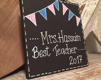 Best Teacher Sign, Wooden Sign, leaving present, wooden teacher, teacher gift, school teacher, teacher present, 15cm