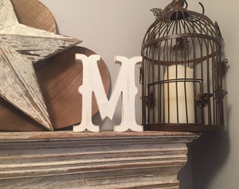 Painted Wooden Letter - Large Letter M,  Circus Font, 40cm high, 16 inch, any colour, wall letter, wall decor, 18mm
