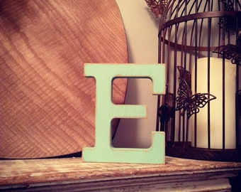 Wooden Letter E - 30cm x 18mm, Freestanding - Rockwell Font - Various sizes, finishes and colours