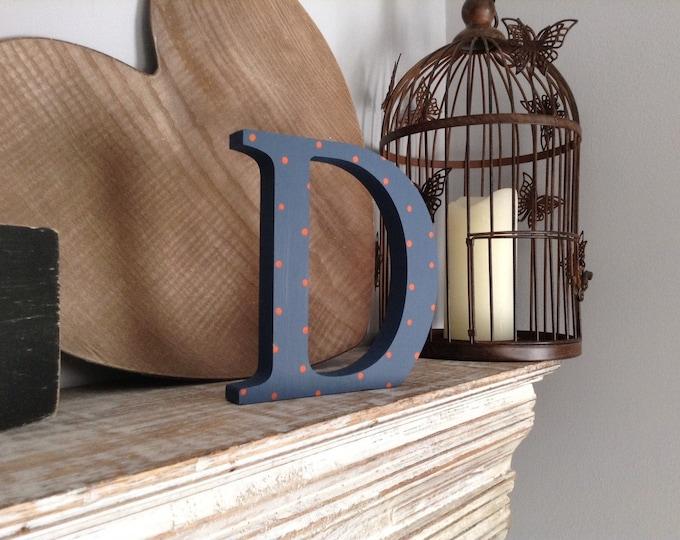 Wooden Letter 'D' -  25cm x 18mm - Georgian Font - various finishes, standing