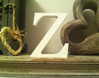 Wooden Letter Z - 20cm x 18mm, Freestanding - Georgian Font - Various sizes, finishes and colours