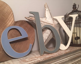 Wooden Wall Letters - lowercase - Roman Font - Various sizes, finishes and colours, price is per letter
