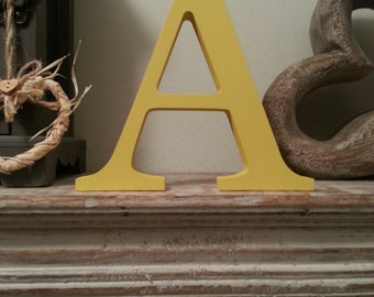 Freestanding Wooden Letter 'A' - Georgia Style - 10cm