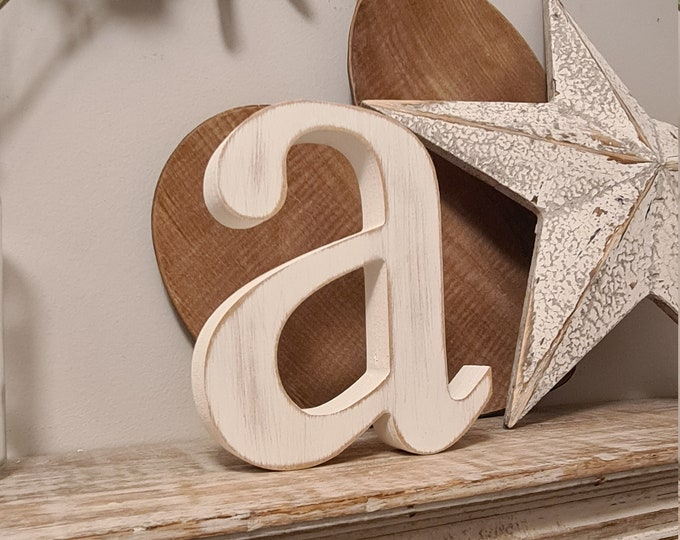 Wooden Letter 'a' -  14cm x 25mm - Roman Font - various finishes, standing