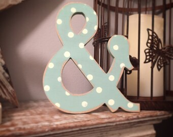 Painted Wooden Letter - Large Ampersand, Circus Font, 40cm high, 16 inch, any colour, wall letter, wall decor, 18mm