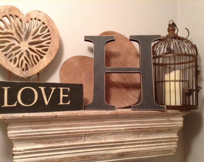 Hand-painted Wooden Letter H - Freestanding - Georgian Font - Various sizes, finishes and colours
