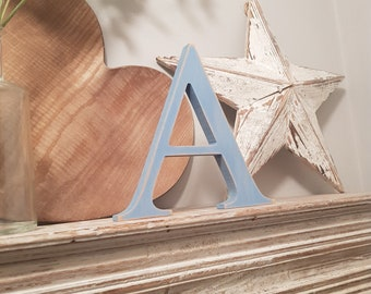 Wooden Letter A - 20cm x 18mm, Freestanding - Georgian Font - Various sizes, finishes and colours
