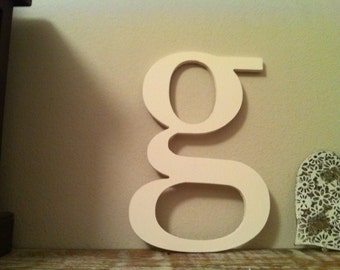 Handpainted Wooden Wall Letter - 'g' - New Times Roman - large lowercase